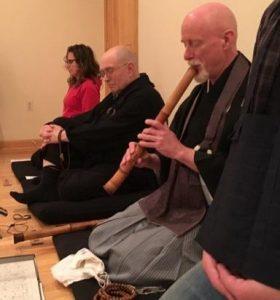 preston houser playing shakuhachi